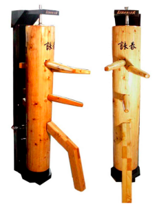 wooden dummy with recoil reaction stand